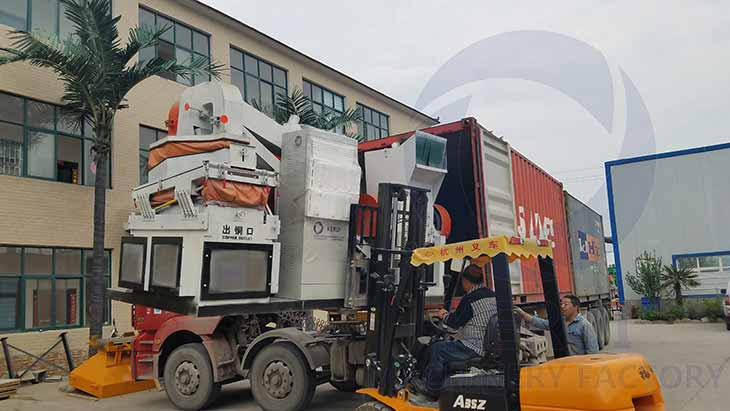 Copper Wire Recycling Machine Loading