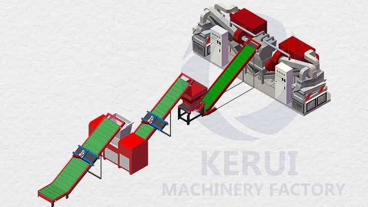 Copper Wire Shredder Machine Workflow