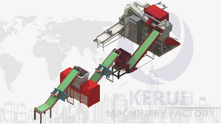 500kg/h Heavy Industry Cable Recycling Solution