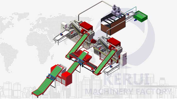 1000kg/h Heavy Industry Cable Recycling Solution